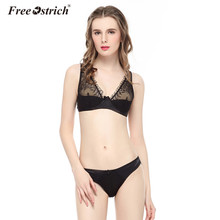 Free Ostrich 2017 Underwear Sexy lace Lingerie Kits Women Bra Set Underwire A B C D Cup Bra Drop Shipping Wholesale F35