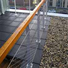 Eco-Friendly Creative stainless steel cable mesh railing guard(China)