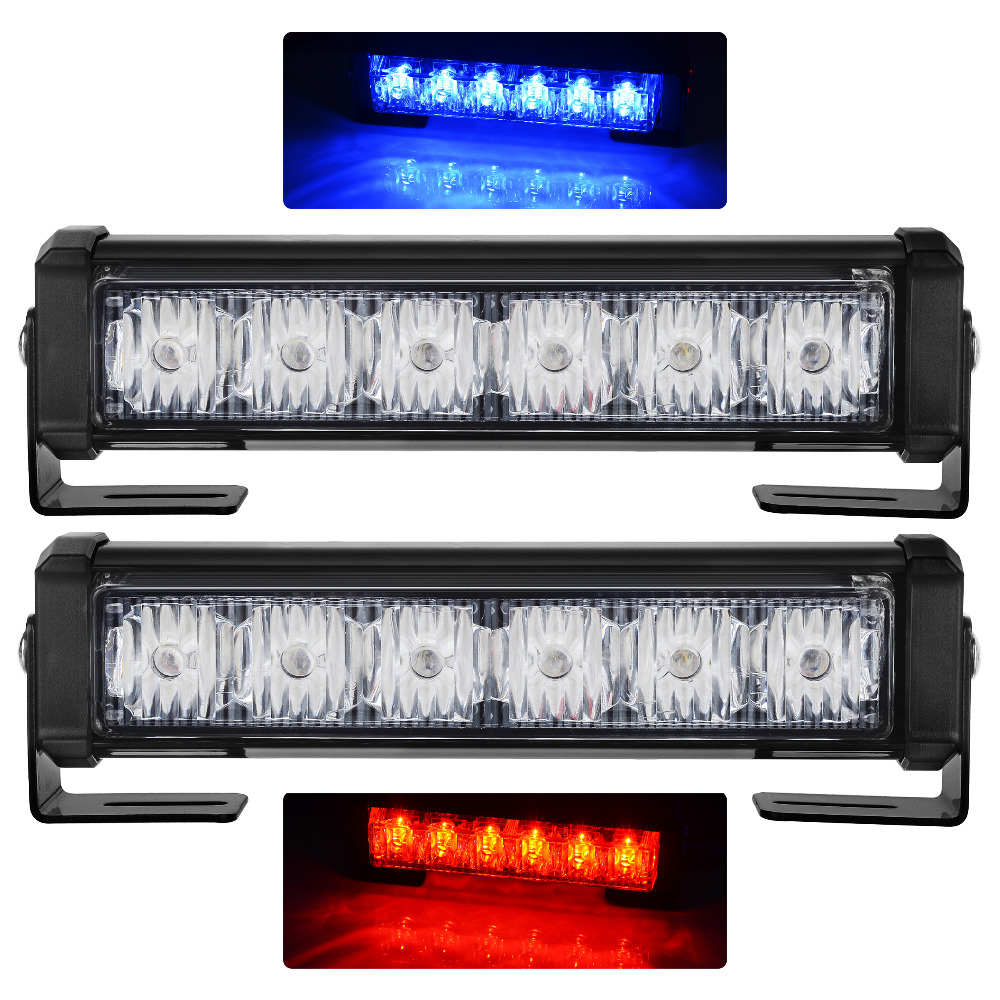 exLED Car grille lamp bright light 2 in1 LED red/blue warning light with long light<br>
