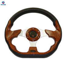 Sale Universal 320mm PU Leather Racing Sports Auto Car Steering Wheel with Horn Button 12.5 inches Wooden(China)