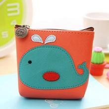 Cartoon Beautiful Gril Children Plush Coin Bag Purse Whale Fox Umbrella Duck Zipper Change Purse Wallet Kids Girl Women Gift