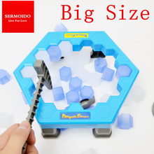 SERMOIDO Penguin Trap Interactive Ice Breaking Table Penguin Trap Antistress Toy Activate Fun Toy For Kids Family Funny Game A50