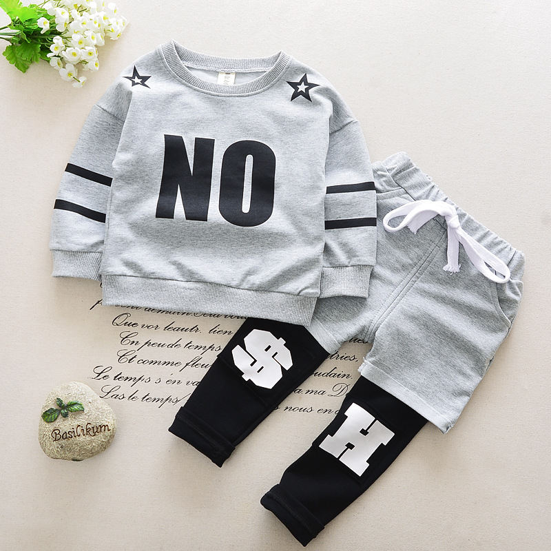 Baby boys clothing sets cotton Letter children clothing long sleeve 0-6T boy suit kids tracksuit character children set cartoon<br><br>Aliexpress