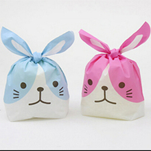 20pcs/lot rabbit ear cookie bags candy Biscuit Gift Packaging Bag Wedding Candy Gift Bags party Supplies