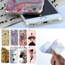 Ultra Thin Phone Case For iPhone 7 6 5 4 TPU Bags Cover For iPhone 5S 6S 4S 7 Plus 5C SE Spring Autumn Tiger Painting Pattern