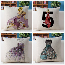 Free shipping/fashion high heels illustration 43 * 43 cotton and linen hold pillow cushion for leaning on No Inner