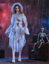 MOONIGHT Ghost Bride Costume for Women Adult Halloween Ghost Costume Fantasia Cosplay Fancy Dress