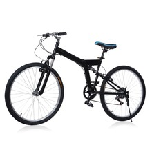 Brand New 26 inch 6 Folding Speed Mountain Bike Sport Cycling Disc Brakes Bicycle Aluminum Alloy 6 Gears Folding MTB Road Bike