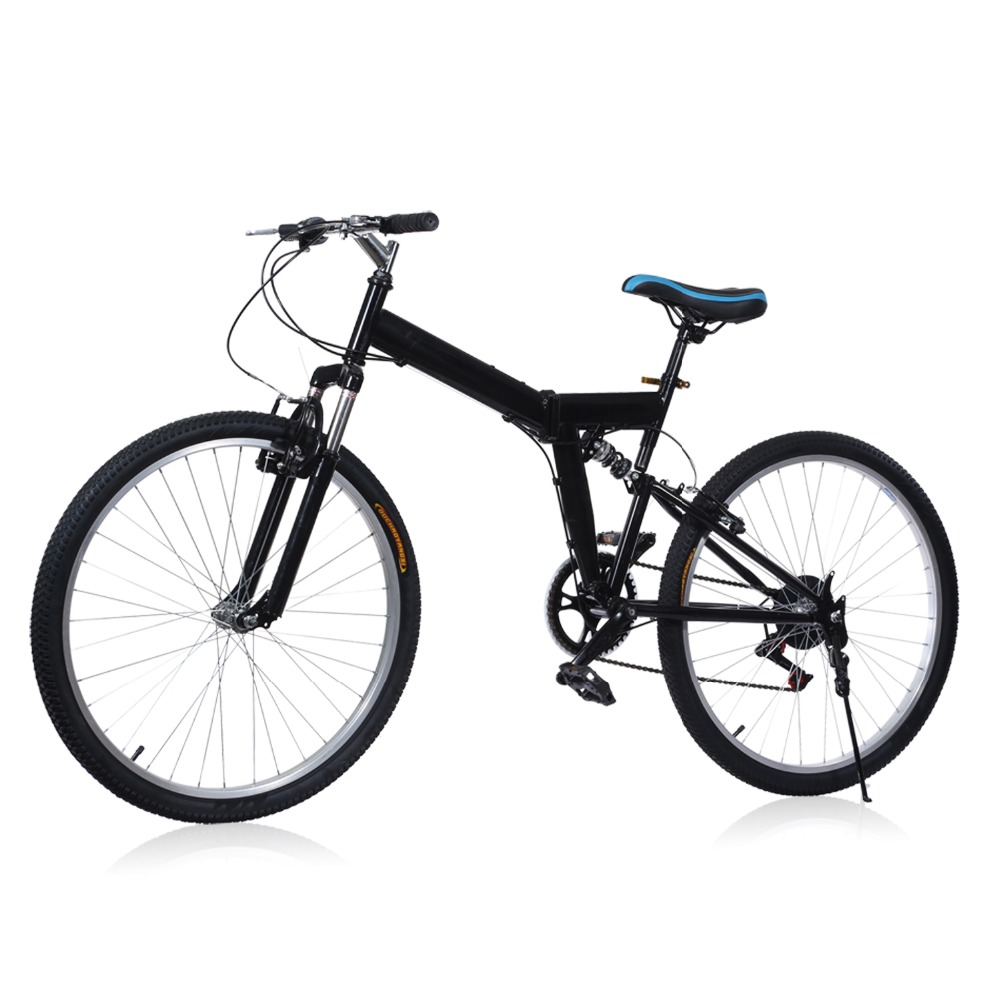 Brand New 26 inch 6 Folding Speed Mountain Bike Sport Cycling Disc Brakes Bicycle Aluminum Alloy 6 Gears Folding MTB Road Bike(China)