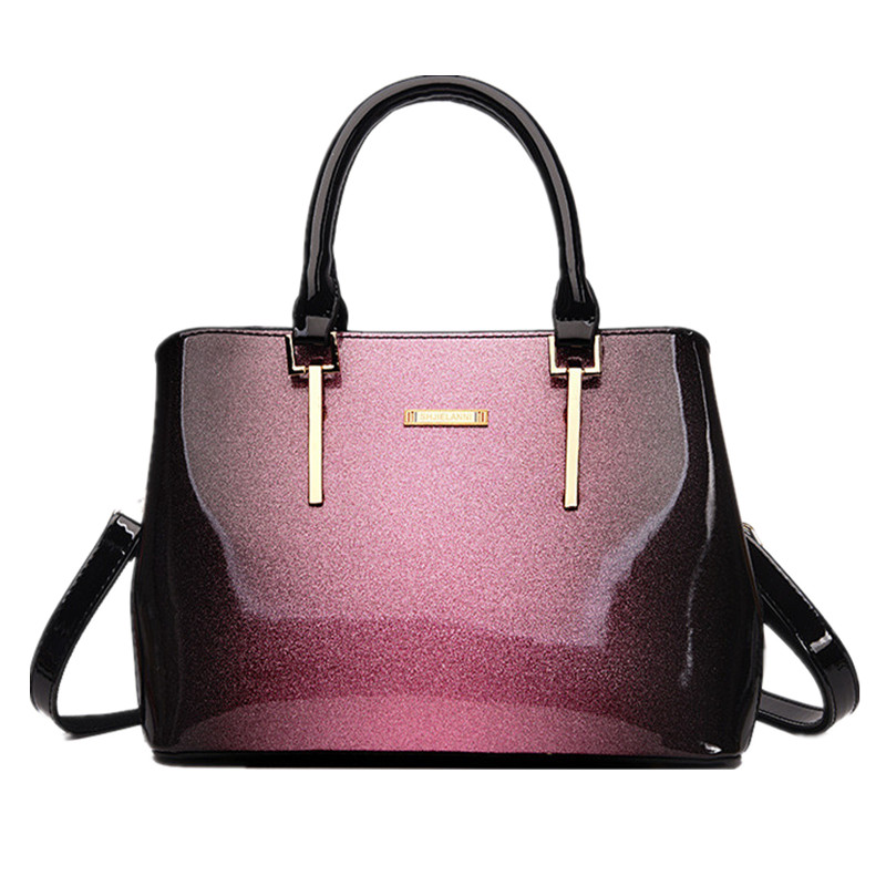 New Fashion Handbags High Quality Cow Patent Leather Women Leather Handbag Office Totes Bags Handbags Women Famous Brands Sac<br>
