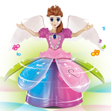 Electric Dancing Princess Elsa Fairy Musical Toy With Music Lightening Best Gift For Kids Boys Girls Toddlers Action Figure Toys