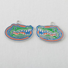 HAEQIS Fashion NCAA Sport Charms Florida Gators Football Team Logo Charms 10 pairs AAC405