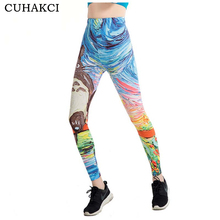 CUHAKCI Graffiti 3D Print Leggings Women 21 Designs Painting Legging Fitness Floral Stripe Jeggings Scale High Stretch Leggins(China)