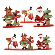 Snowman Santa Claus Christmas Xmas Decoration Living Room Table Ornament Craft Party Supplies Kids Favors Home Decor