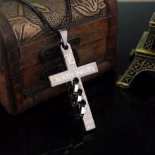 Buy Hot Anime Death Note Pierced Cross Jesus Charm Pendant Necklace Cosplay Accessories Jewelry Birthday Christmas Party Gift for $1.19 in AliExpress store