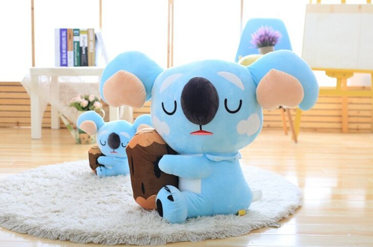 middle creative plush koala toy lovely soft blue koala doll gift about 38cm<br>