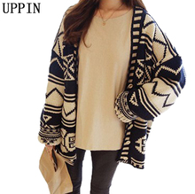 UPPIN Cardigan Jacket Women's Long Section 2017 New Spring Autumn Loaded Students Loose Striped Sweater Cardigan Female