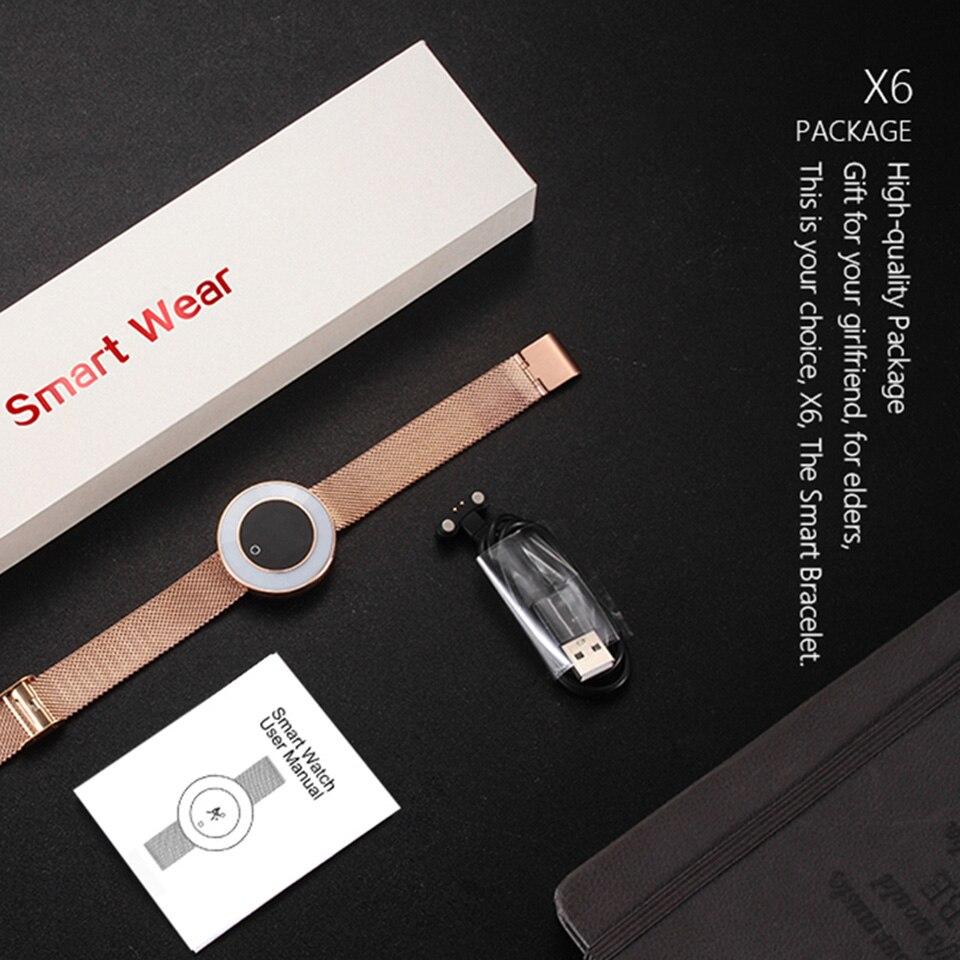 women smart fitness bracelet X6 7
