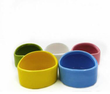 New Cat Small Animal Candy Color Small Water Feeder Food Feeder Anti-Chewing Ceramic 6x4.3cm 1pc(China)