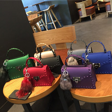 Buy 2018 Fashion Brand Jelly PVC Bag Women Messenger Bags sac femme Luxury Leather Handbags Women Bags Designer Crossbody Bags Rivet for $23.45 in AliExpress store