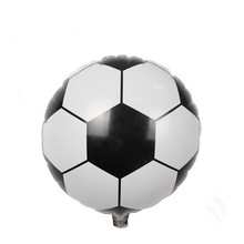 New 18inch Football Foil Balloon Soccer Ball Round Helium Balloons Mylar Globos Size 45x45cm Free Shipping(China)