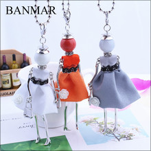 BANMAR Handmade Statement French Doll Necklaces Maxi Long Chain Pendant 2017 Alloy Bohemian News Choker Girls Women Accessories(China)