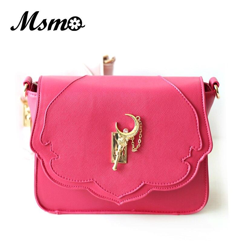 MSMO Japans new Samantha Vega Sailor Moon Luxury Women Handbag Shoulder Bag PU Leather Messenger Crossbody Bag LUNA Bag<br>