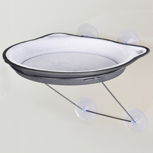 37cm Cat Hammock Bed Mount Wall Pod Lounger Suction Cups Warm Bed For Pet Cat Rest House Soft And Comfortable(China)