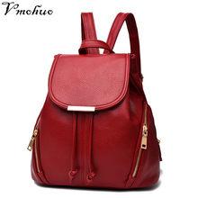 VMOHUO Women Backpack High Quality PU Leather Mochila Escolar Korean Style School  Bags For Teenagers Girls Leisure Backpacks 11b2cd95ac