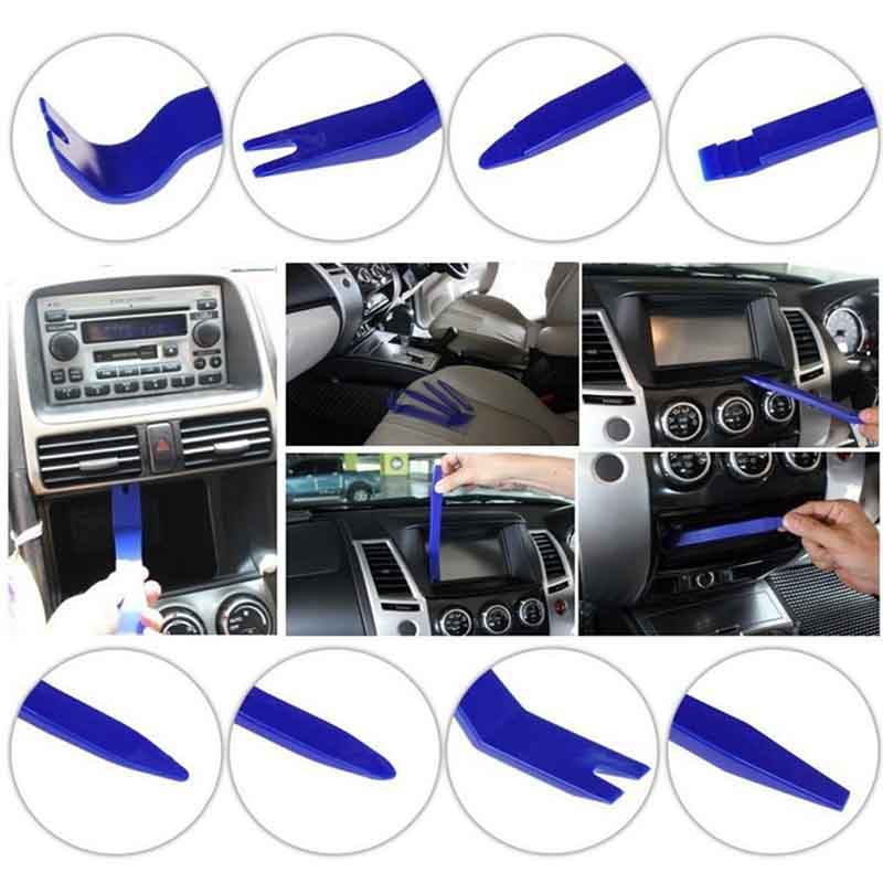 7pcs/set Car Audio Radio Dash Moulding Trim Door Panel Removal Pry Tool Kit