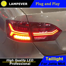 HLC Car Taillights For Volkswagen Jetta MK6 Tail Light 2012-2017 LED DRL Brake Moving Yellow Turning Reverse light Rear Lamp(China)