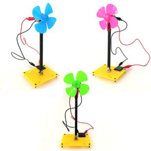 DIY Novelty Toy Solar Energy Windmill Model Puzzle Science Toys Educational Bricks Mini Fan(China)