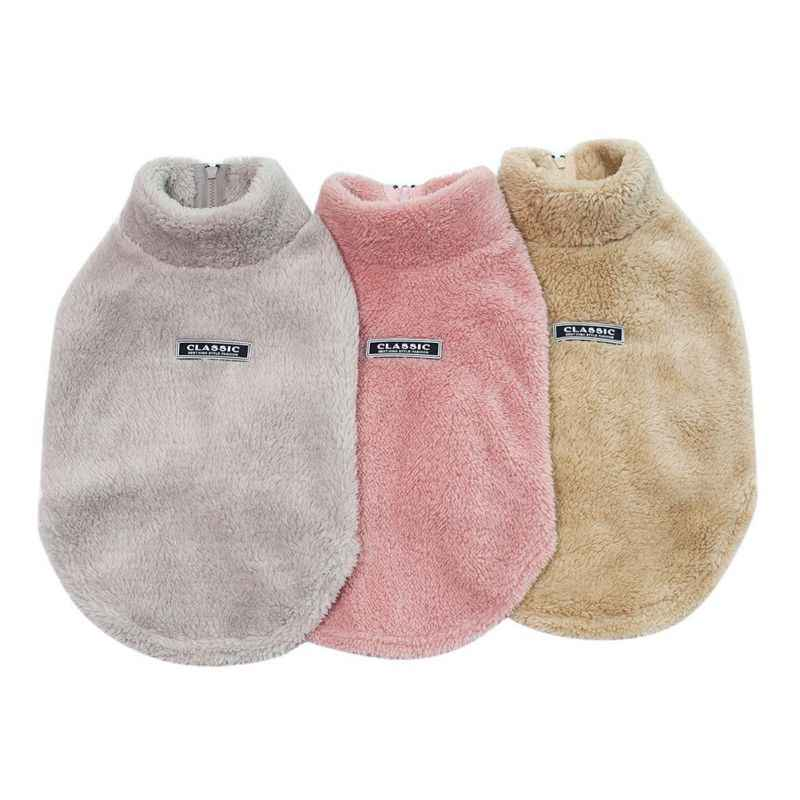 Warm Pet Dogs Clothes Cute Warm Casual Coats with High Collar for Winter and Autumn Puppy Cloth for Pet Dog Puppy Supplies