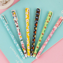 6 pcs/lot(1bag) Cute Kawaii Plastic Gel Pen Cartoon Rabbit Bear Marker Pens School Supplies Free Shipping 2177(China)