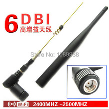 new 2.4G antenna 6dBi Omni WIFI Antenna dual band with RP SMA male connector for wireless router