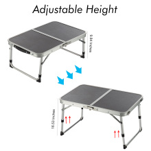 Portable Aluminum Alloy Two Folded Table Adjustable Light Weight Table for Camping Outdoor Picnic FP8(China)