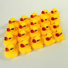 12pcs Cute Little Yellow Duck 4cm Pinch Called Rubber Duck Baby Shower Toys Birthday Gift Kids Bath Toys Squeeze-sounding Toys
