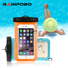 "For Universal 4.8""-6.0"" Waterproof Pouch Case Cover Phone Camera Mobile Phone Water proof Bags For iphone 5 5S SE 6 6S 7 7 Plus"