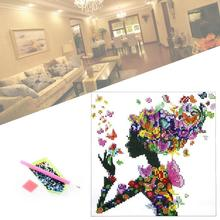 Artist Paintings 5D DIY Diamond Fairy Butterfly Girl Painting Diamond Embroidery Cross Stitch Paint Wall decoration