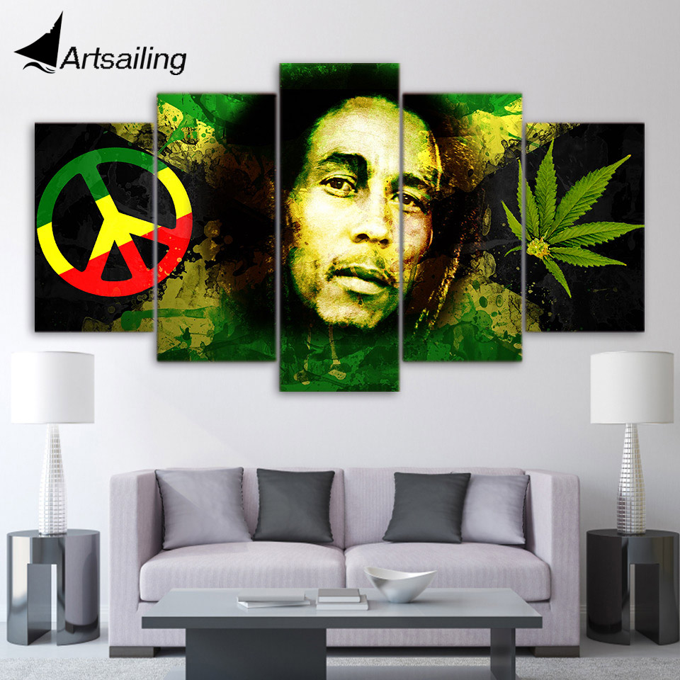 Portrait Pipe Man Art Painting Poster Living Room Picture Wall Room Home Decor