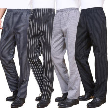 Spring and summer food service Free Shipping autumn Cook pants work pants checked striped chef pants unisex chef trousers