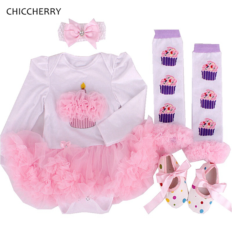 Cupcake Valentine Baby Outfits Long Sleeves Newborn Lace Tutu Headband Legwarmers Set Roupa Menina Infant Lace Romper Clothes<br><br>Aliexpress