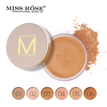 Miss Rose Face Powder Makeup Brighten Long Lasting Powder Matte Natural Nutritious Whitening Brighten Concealer