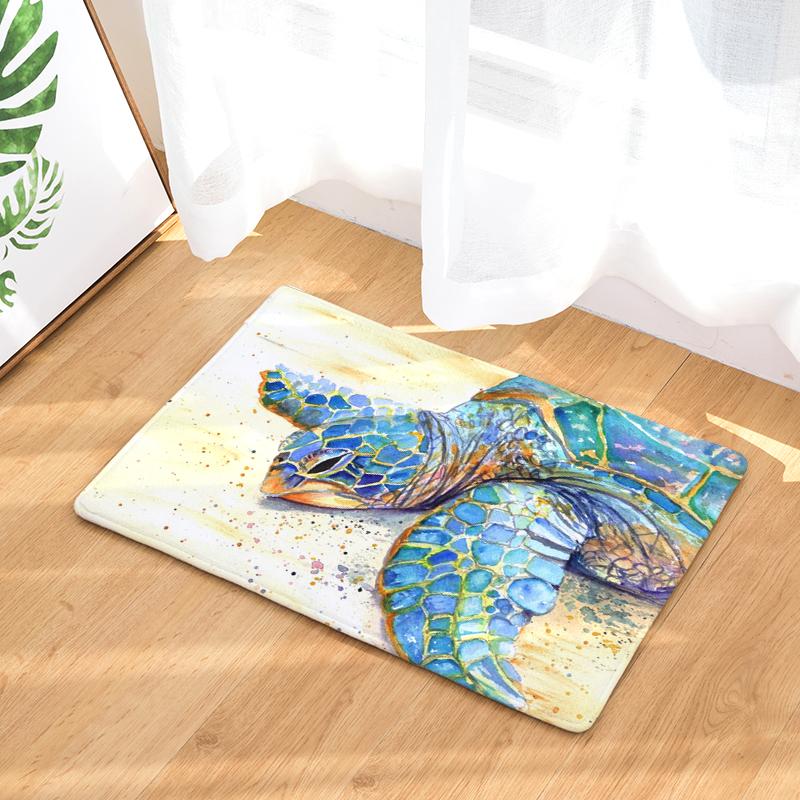 Flannel Floor Mats Big Turtles Printed Bedroom Living Room Carpets Cartoon  Pattern Mat for Hallway Anti-Slip Tapete - us68 cb9a6528e2f