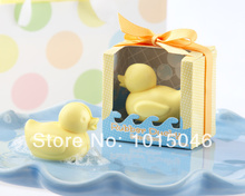 Free Shipping 10 X Duck Scented Soap Savon Baby Shower Soap Gift Wedding Gift Party Deco Supply(China)
