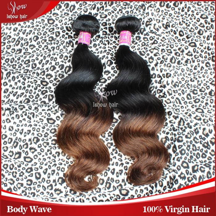 2014 new fashion human hair weave sale ombre brazilian virgin hair body wave grade 7A virgin hair extensions 4pcs lot 14-24inch<br><br>Aliexpress
