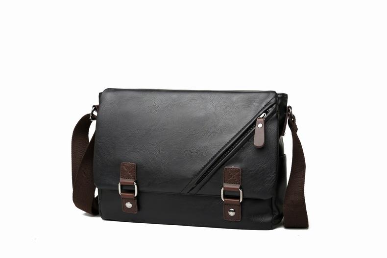 MJ Men\`s Bags Vintage PU Leather Male Messenger Bag High Quality Leather Crossbody Flap Bag Versatile Shoulder Handbag for Men (27)