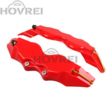 4pcs/lot Universal Car red ABS Plastic Front & Rear  Disc Brake Caliper Cover Trim Auto Part  3D Word Style Disc Brake cover
