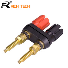 1pc New Extended Speaker banana plugs BINDING POST terminals banana socket Dual Female Banana Connector for Speaker Amplifier(China)