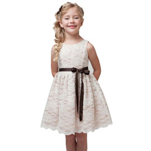 Summer Girls Costumes Lace Dresses for Party Wedding Embroidery Kids frocks designs Ball Gowns Dress vestidos 4 6 8 10 12 Years